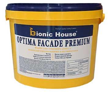 «Optima Facade Premium» - Фасадна фарба гідрофобна