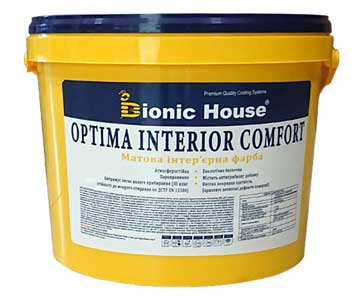 «Optima Interior comfort» - Акрилова інтер'єрна фарба вологостійка