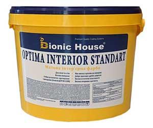 «Optima Interior standard» - Акрилова фарба для стін і стелі