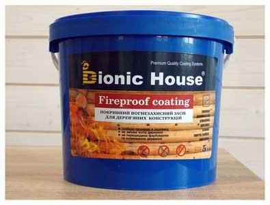 Огнезащитная краска для дерева «Fireproof coating»