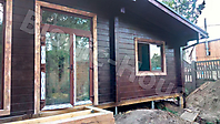 Покраска деревянного фасада цвет палисандр_4