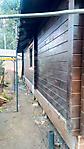 Покраска деревянного фасада цвет палисандр_5