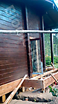 Покраска деревянного фасада цвет палисандр_6
