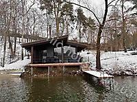 Деревянная баня - Аква Колор Белый и Палисандр_1
