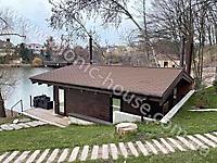 Деревянная баня - Аква Колор Белый и Палисандр_3