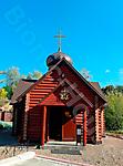 Окраска фасада церкви из сруба_2