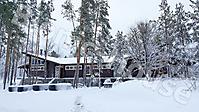 Деревянный банный комплекс в лесу_2